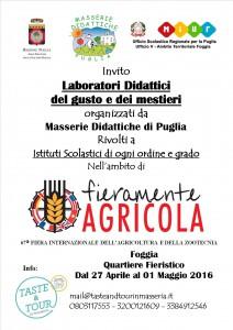 locandina invito Istituti Scolastici Fiera di Foggia -